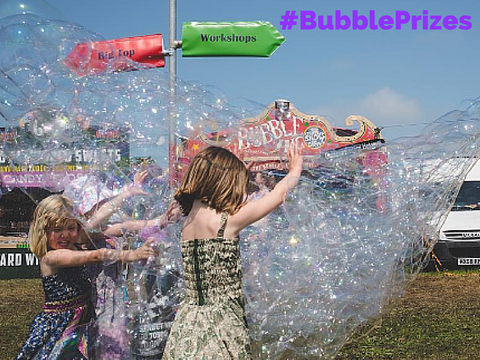 bubble inc wonderweb bubble net bubblenet children playing with billions of bubble summer UK festival