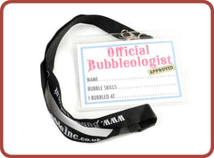Bubbleologist Tags with Lanyard - Bubble Inc