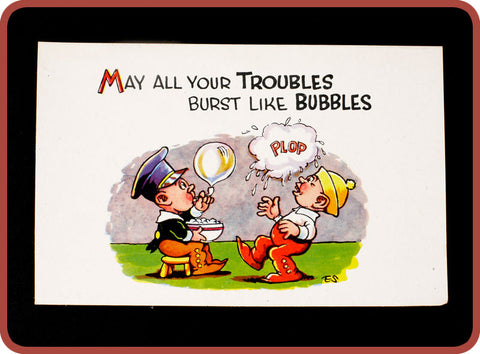 Vintage Bubble Postcards