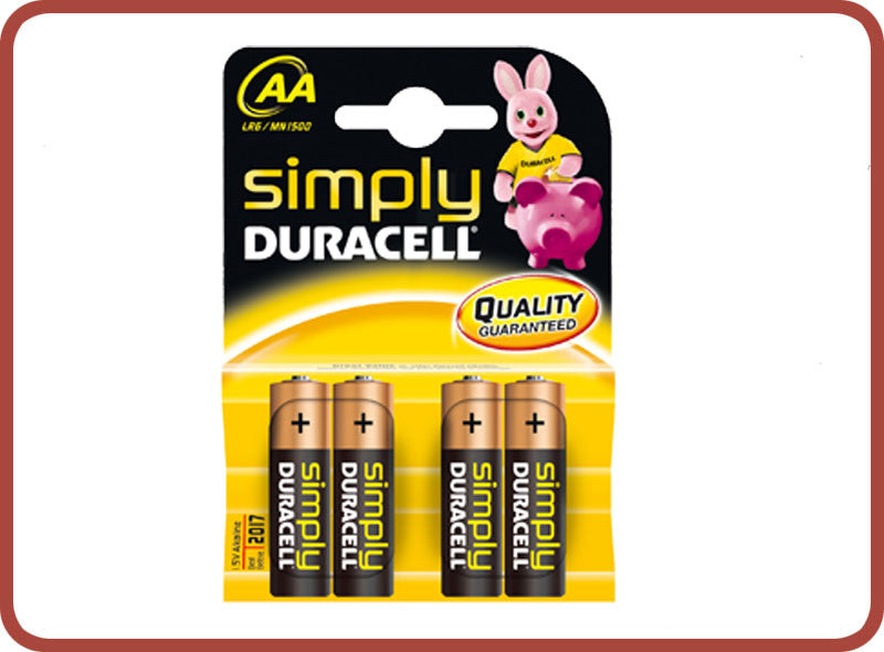 Duracell AA Batteries x 4 - Bubble Inc