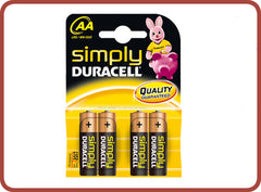 Duracell AA Batteries x 4