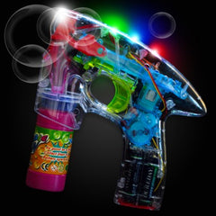 Clear LED filled Bubble Gun!