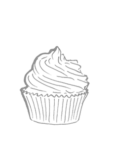 Desserts and cupcakes graphic image