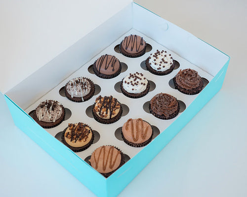 Decadent Chocolate Lovers Cupcake Assortment from House of Clarendon in Lancaster, PA