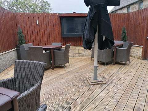 natural finish exterior oil decking