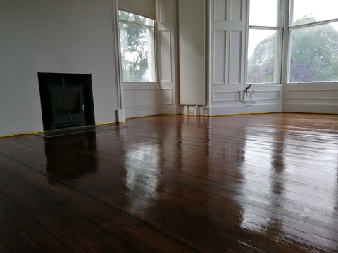 walnut pine floor sanded