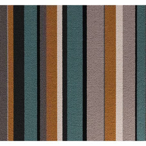 Jade Amber Grey 100% Wool Stripe Carpet