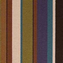 Load image into Gallery viewer, Multi coloured 100% Wool Stripe Carpet