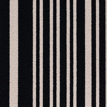 Load image into Gallery viewer, Black Grey coloured 100% Wool Stripe Carpet