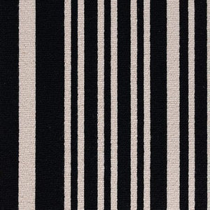 Black Grey coloured 100% Wool Stripe Carpet