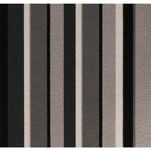 Grey Shades coloured 100% Wool Stripe Carpet