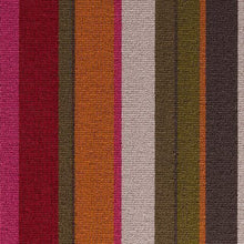 Load image into Gallery viewer, Crimson Ruby Amber coloured 100% Wool Stripe Carpet