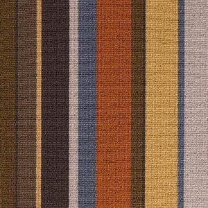 Multi Coloured 100% Wool Stripe Carpet