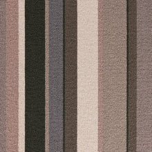 Load image into Gallery viewer, Greys Brown coloured 100% Wool Stripe Carpet