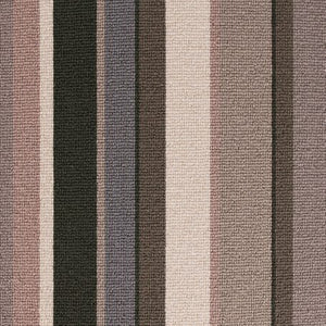 Greys Brown coloured 100% Wool Stripe Carpet