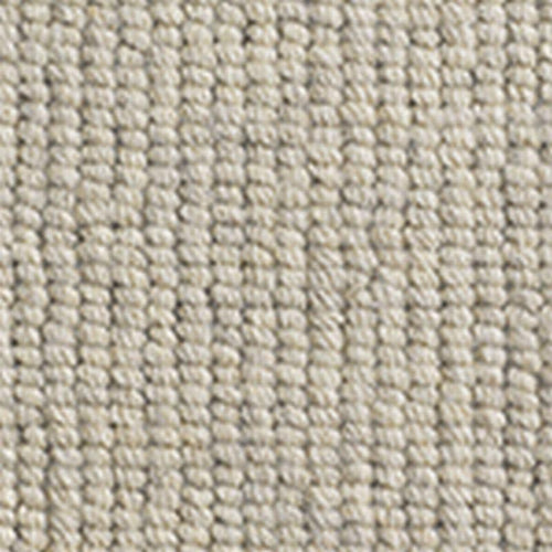 White  Wool Chunky Natural Loop Carpet