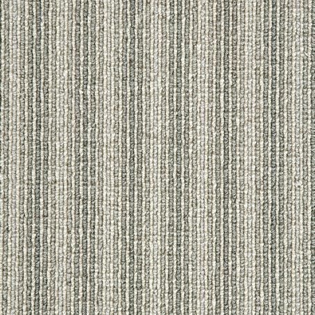 Oyster thin pin Stripe Wool Carpet