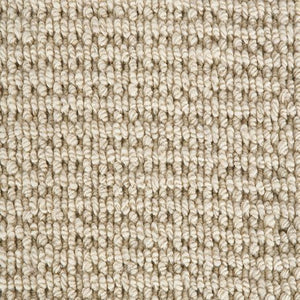 Cool White textured Luxury Wool Loop Carpet