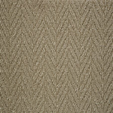 Caramel textured Natural Chevron Pattern Wool Carpet
