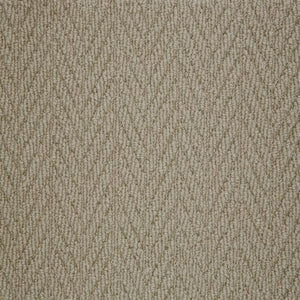 Clay textured Natural Chevron Pattern Wool Carpet