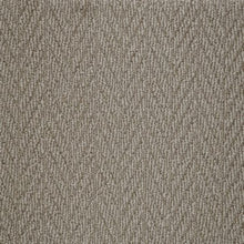 Load image into Gallery viewer, Gravel coloured textured Natural Chevron Pattern Wool Carpet