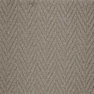 Gravel coloured textured Natural Chevron Pattern Wool Carpet