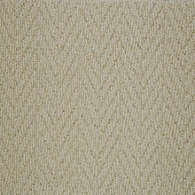 Load image into Gallery viewer, Cream textured Natural Chevron Pattern Wool Carpet