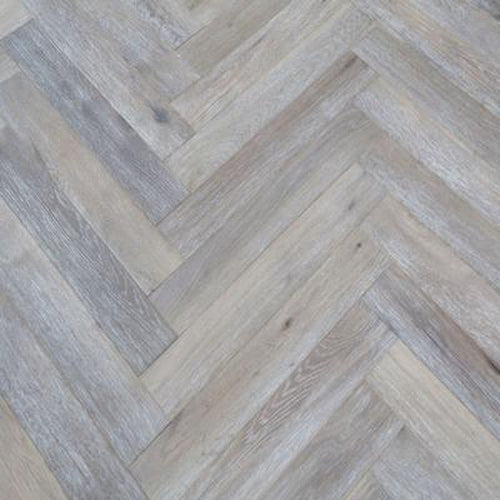 smoked brushed white oil engineered oak herringbone floor