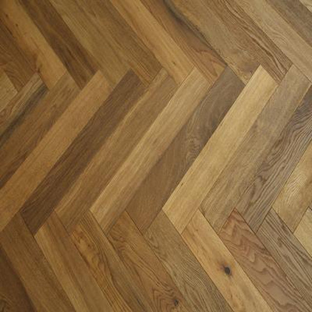 smoked brushed natural oil engineered oak herringbone 18mm