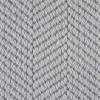 Dark Grey textured Patterned Herringbone 100% Wool Carpet