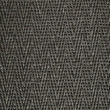 Load image into Gallery viewer, Anthracite Flint Pattern 100% Natural Herringbone Weave Sisal Carpet