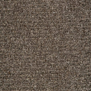 Dark Brown Natural Loop Pile 100% Undyed Wool Carpet