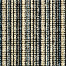 Load image into Gallery viewer, black blue sapphire natural Wool Stripe Carpet