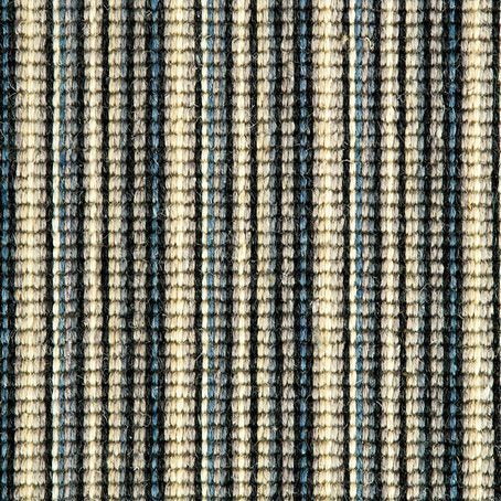 black blue sapphire natural Wool Stripe Carpet