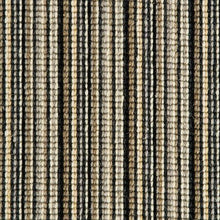 Load image into Gallery viewer, black silver natural Wool Stripe Carpet