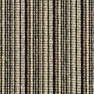 black silver natural Wool Stripe Carpet
