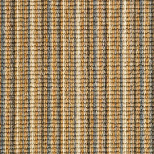 Blue Ginger natural Wool Stripe Carpet