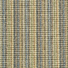 Load image into Gallery viewer, Blue Gold natural Wool Stripe Carpet