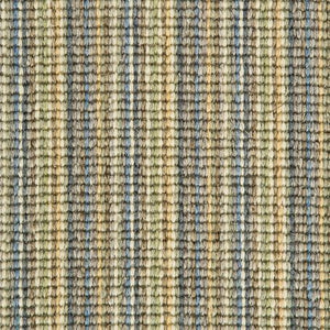 Blue Gold natural Wool Stripe Carpet