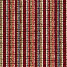 Load image into Gallery viewer, Burgandy Blue Natural Wool Stripe Carpet