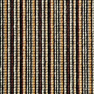Copper Black Natural Wool Stripe Carpet