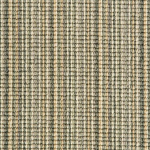 Jade Cream Natural Wool Stripe Carpet
