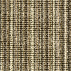 Khaki Cream Natural Wool Stripe Carpet