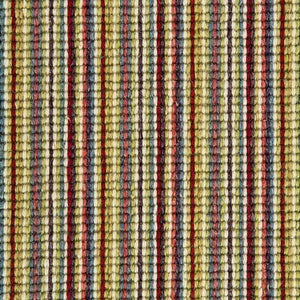 LIme Red Natural Wool Stripe Carpet