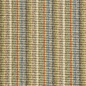 Multi Coloured Natural Wool Stripe Carpet