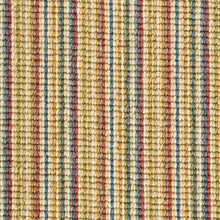 Load image into Gallery viewer, Pastel Coloured Natural Wool Stripe Carpet
