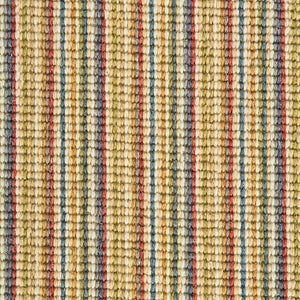 Pastel Coloured Natural Wool Stripe Carpet