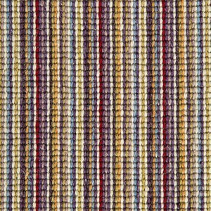 Plum Green Natural Wool Stripe Carpet