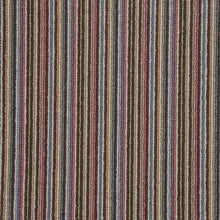 Load image into Gallery viewer, Chocolate Blue Natural Wool Stripe Carpet