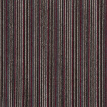 Load image into Gallery viewer, Red Charcoal Natural Wool Stripe Carpet